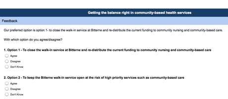 walk in centre consultation screenshot