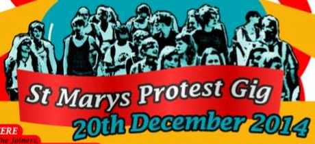 st marys protest gig headers