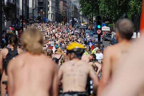 Naked Bike Ride London 2009