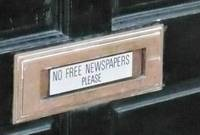 no free newspapers