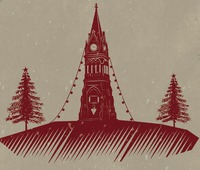 Christmas in the triangle clock image