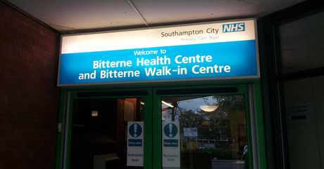 bitterne walk in ctr front illuminated sign