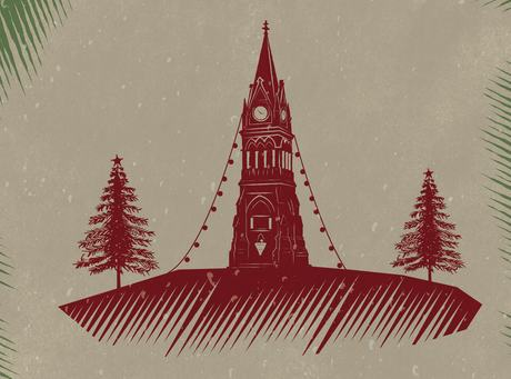 christmas in triangle tree graphic large