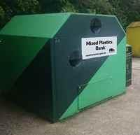 SCC Mixed plastics recycling bank 200 - mock up