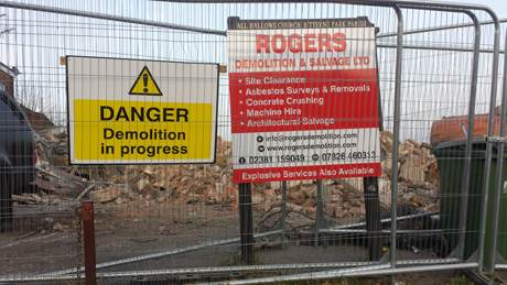 all hallows demolished signs
