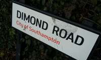 dimond road sign
