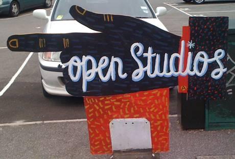 open studios sign