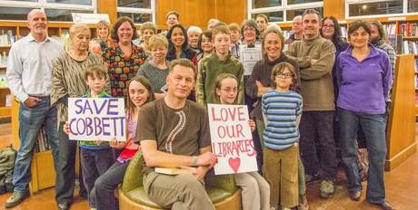chris packham with library group by Steve Hickman