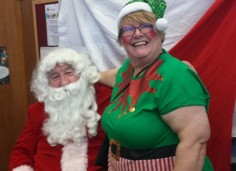 cobbett christmas fayre 2017santa and elf