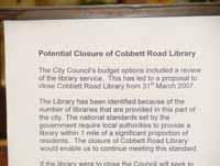 proposed closure sign