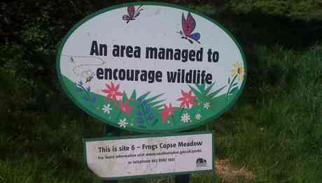 frogs copse sign