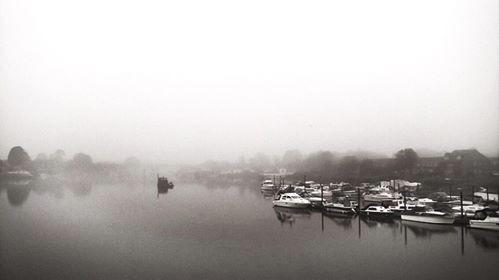 misty view from bridge by Malgorzata Adamska