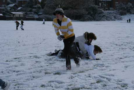 riverside park snowballing