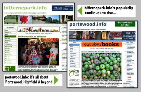 bitternepark.info and portswood.info front pages