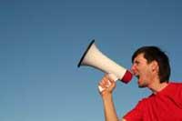 other megaphone man